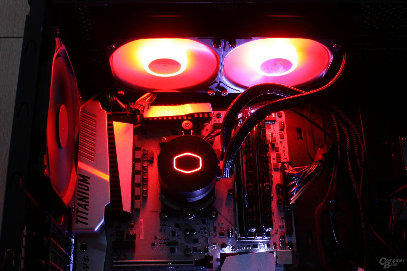 Cooler Master MasterLiquid ML240L V2 RGB im Testsystem