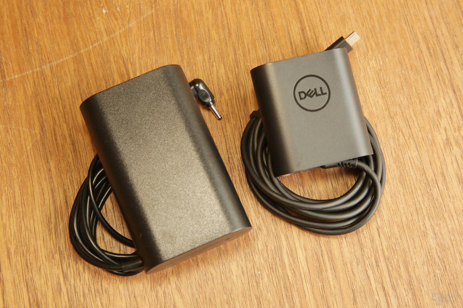 48-Watt-Netzteil von LG (l.) gegen 45Watt von Dell