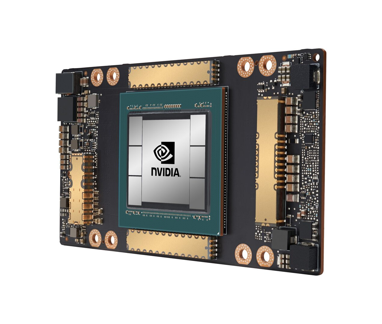 SXM4-Modul mit A100-GPU im Detail