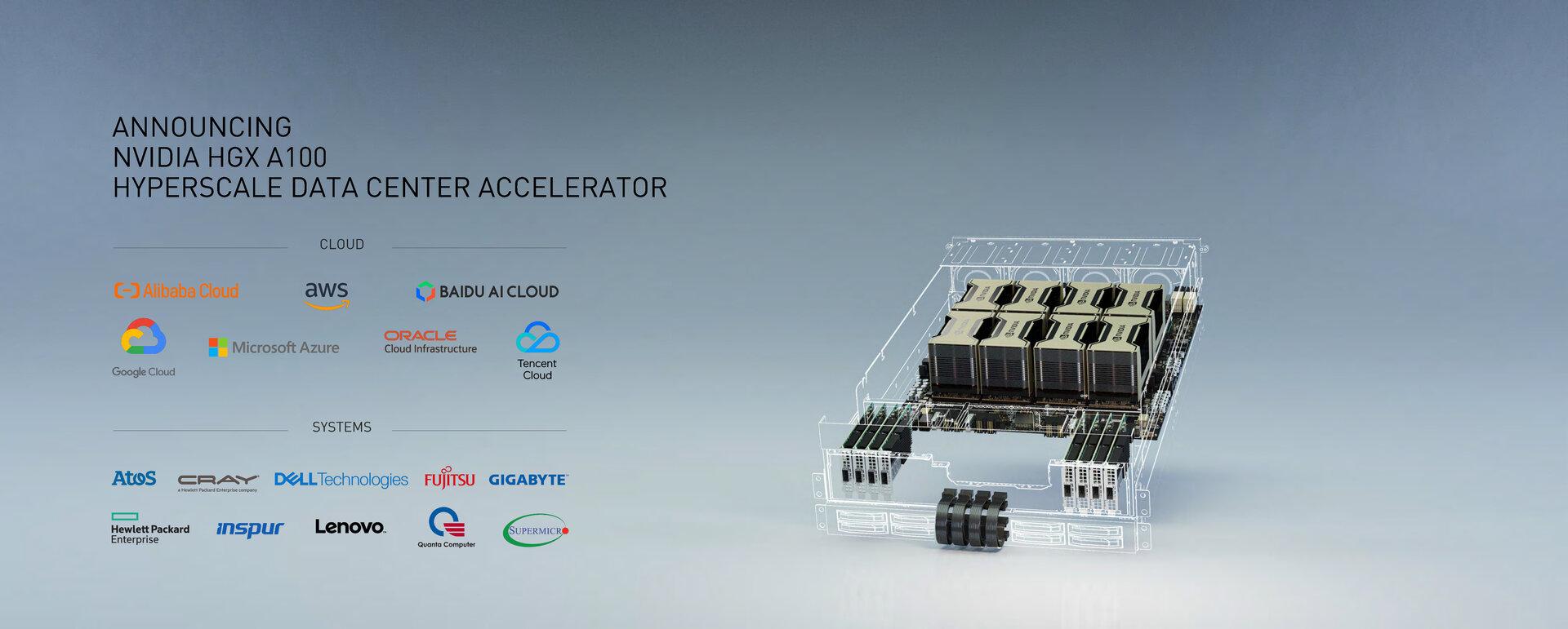 HGX A100 als Barebone aus GPUs, Board und Mellanox-Interfaces