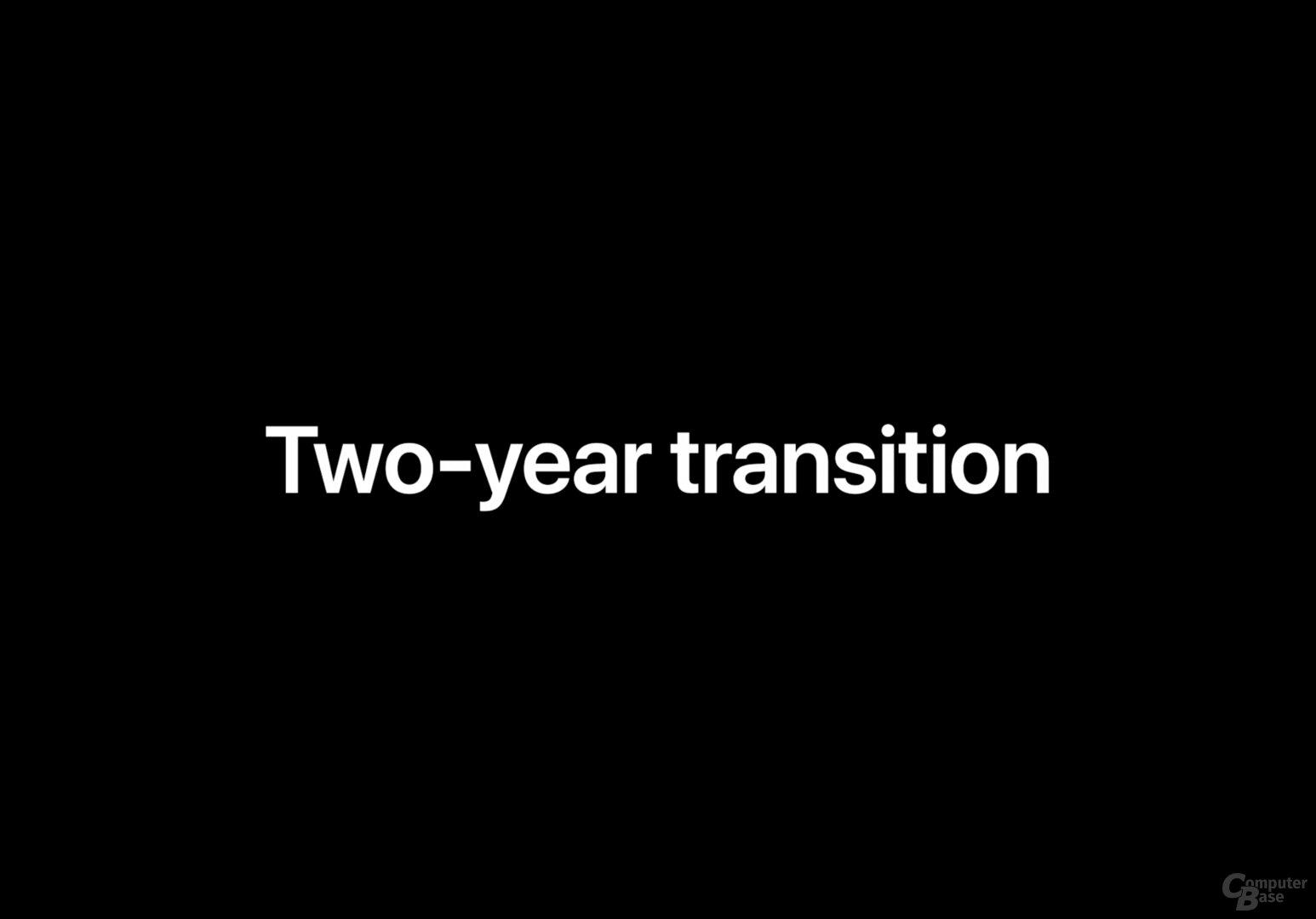 Zwei Jahre wird der Wechsel andauern