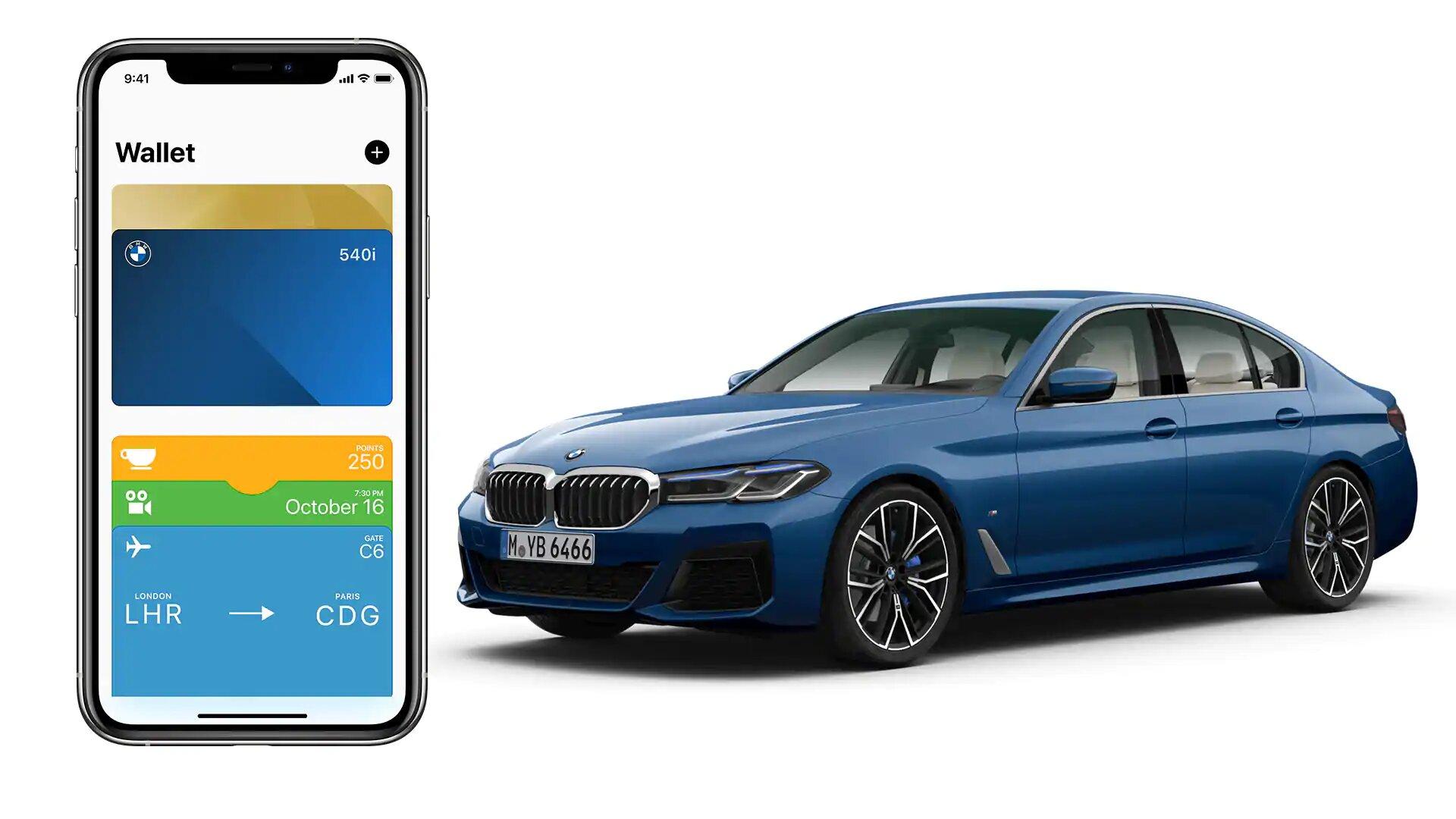 Apple Wallet mit CarKey beim neuen BMW 5er