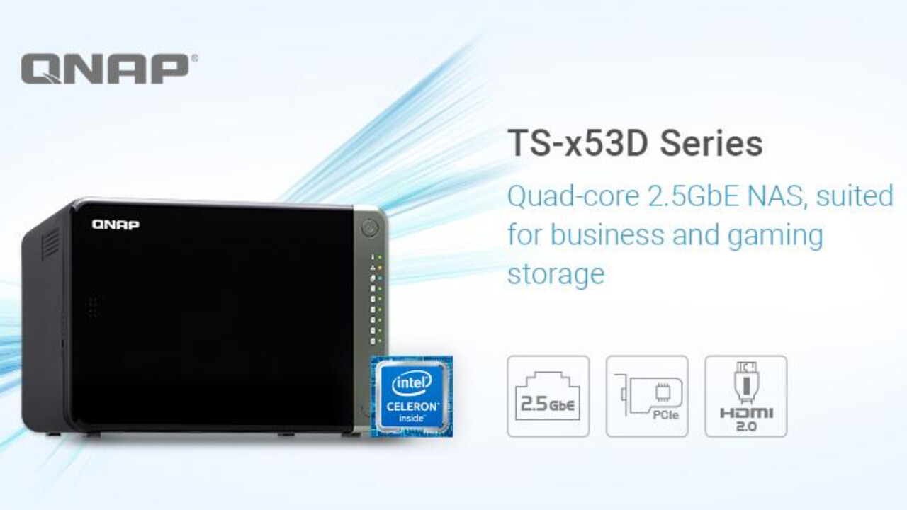 QNAP TS-x53D: Neue NAS-Serie mit Intel-CPU, 2× 2,5 GbE, PCIe und HDMI
