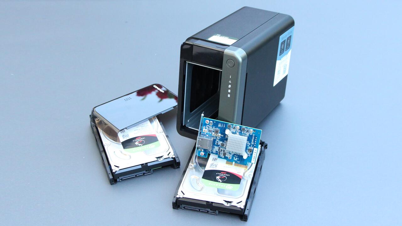 QNAP TS-253D im Test: Das Multi-Gigabit-NAS hängt Synology ab