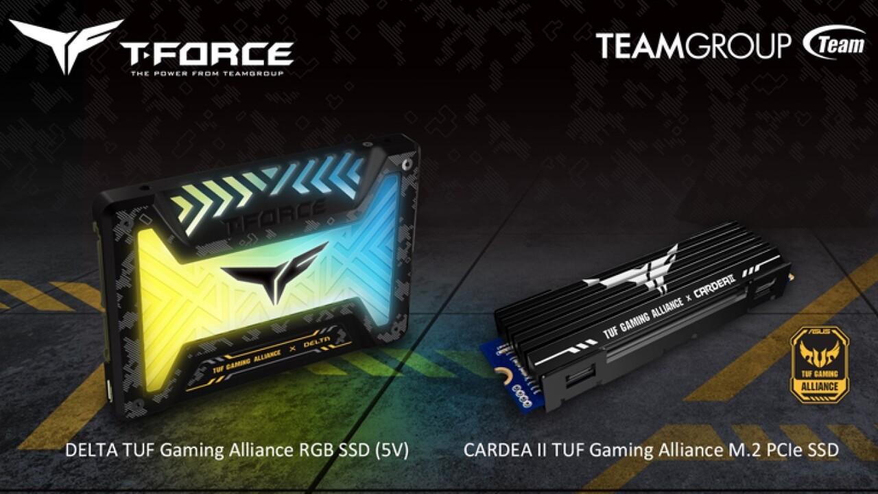 TUF Gaming Alliance: Team Groups SSD-Serien in 2,5 Zoll und M.2 im neuen Anzug