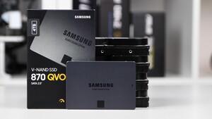 Samsung SSD 870 QVO im Test: Viel Platz und Leistung bis zur QLC-Bremse