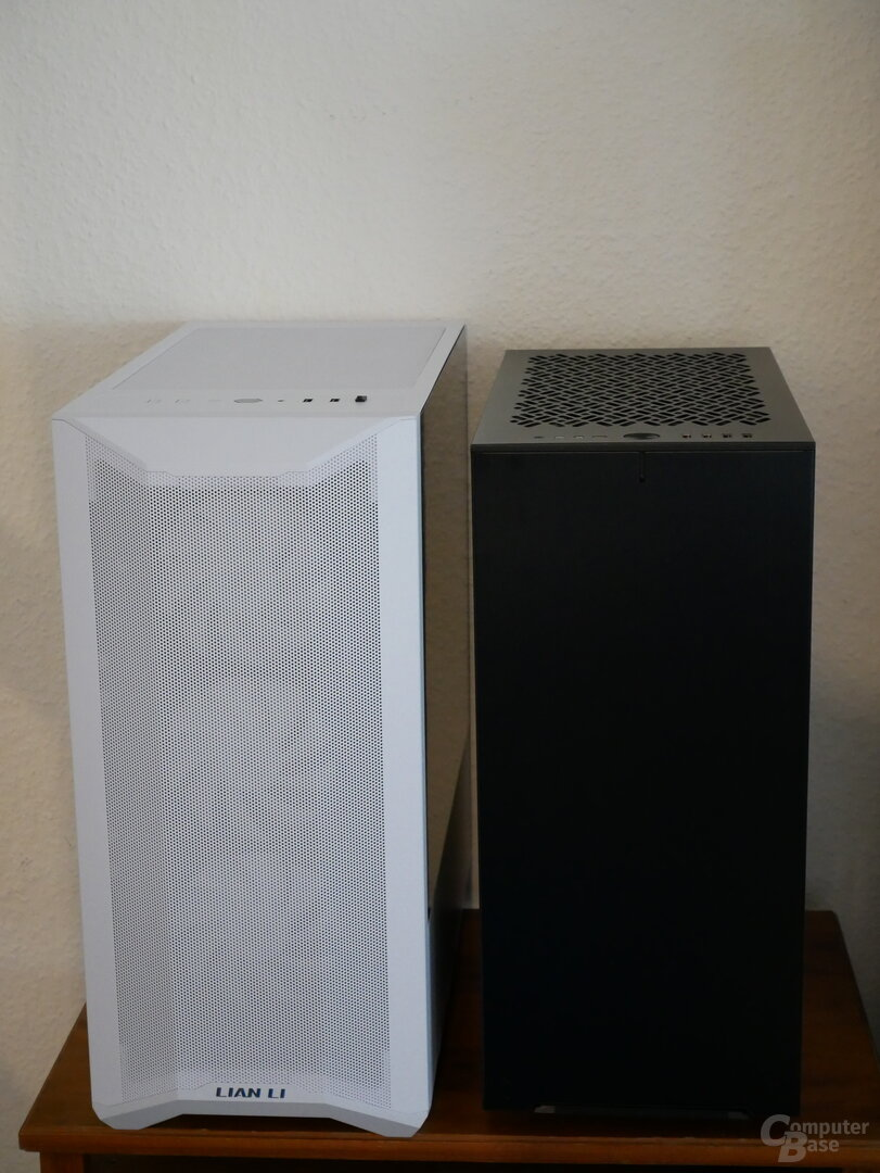 Lancool II Mesh Größenvergleich mit Define 7 Compact