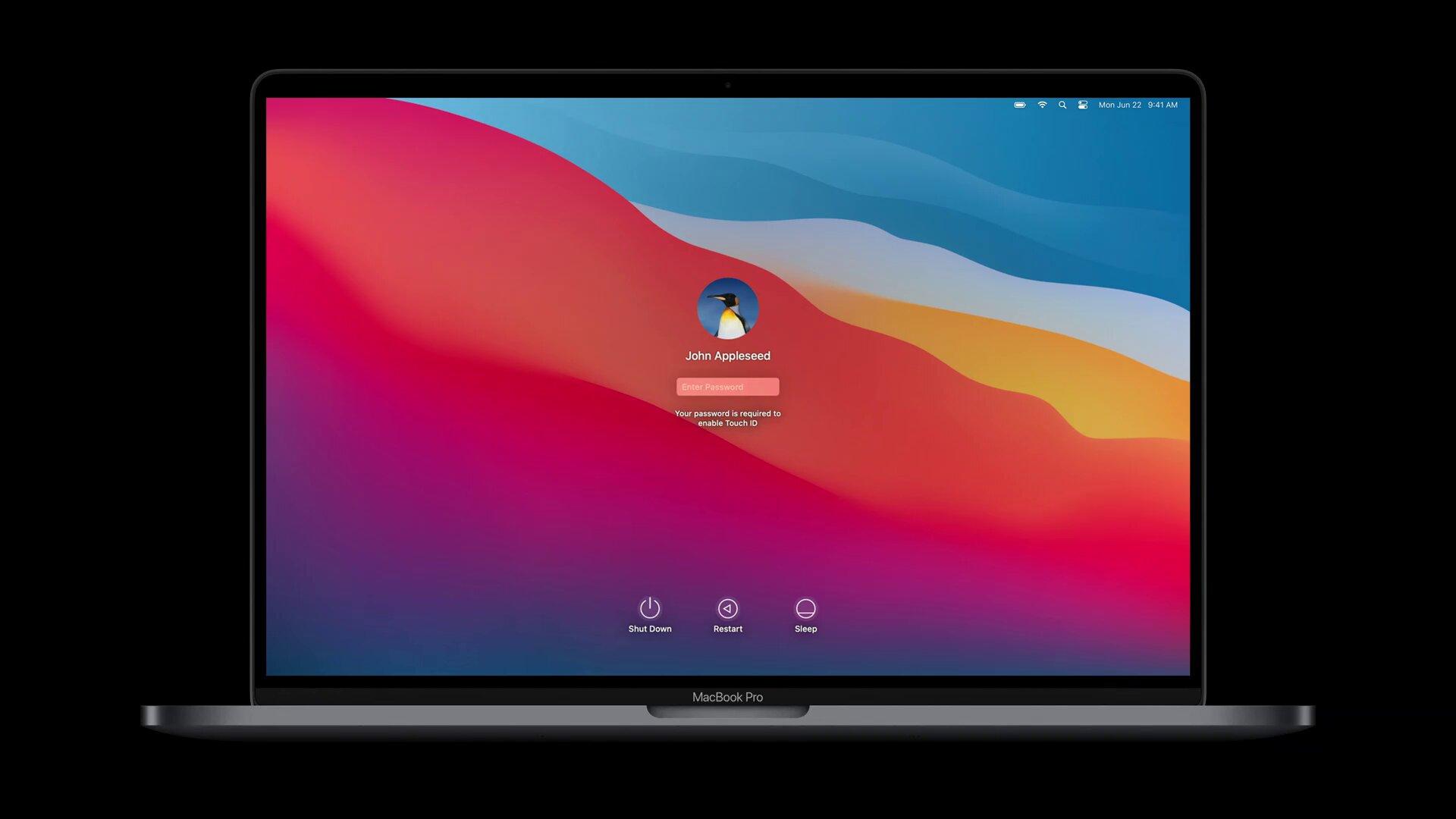 Der neue Login auf einem Apple-Silicon-Mac
