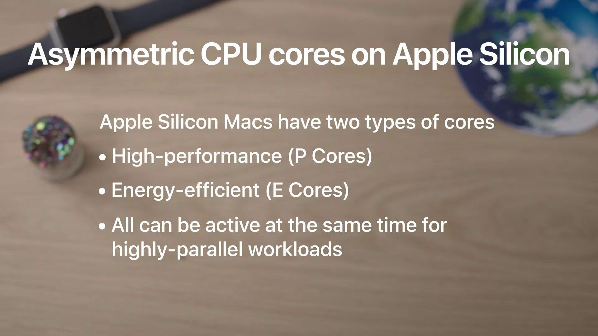 Apple Silicon für Macs nutzt P-Cores und E-Cores