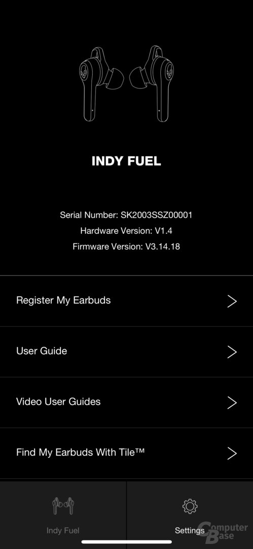 Skullcandy-App mit Indy Fuel