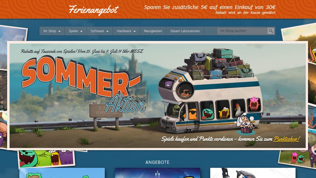 Steam Summer Sale 2020: Sommer-Aktion lockt mit hohen Rabatten