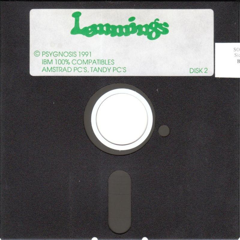 Lemmings von 1991 auf einer 5,25-Zoll-Diskette