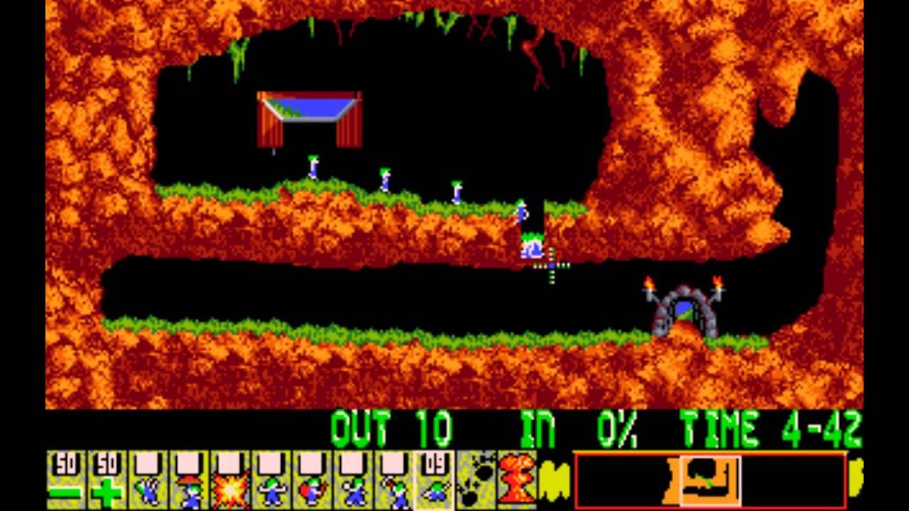 Der Spieler muss den Lemmingen dabei helfen, sicher ans Ziel zu gelangen