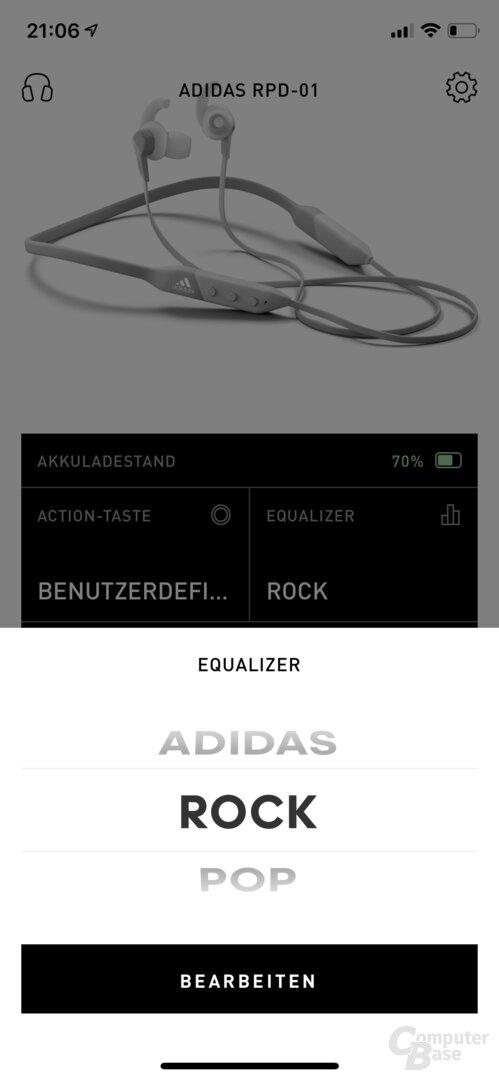 Adidas Headphones-App mit RPD-01