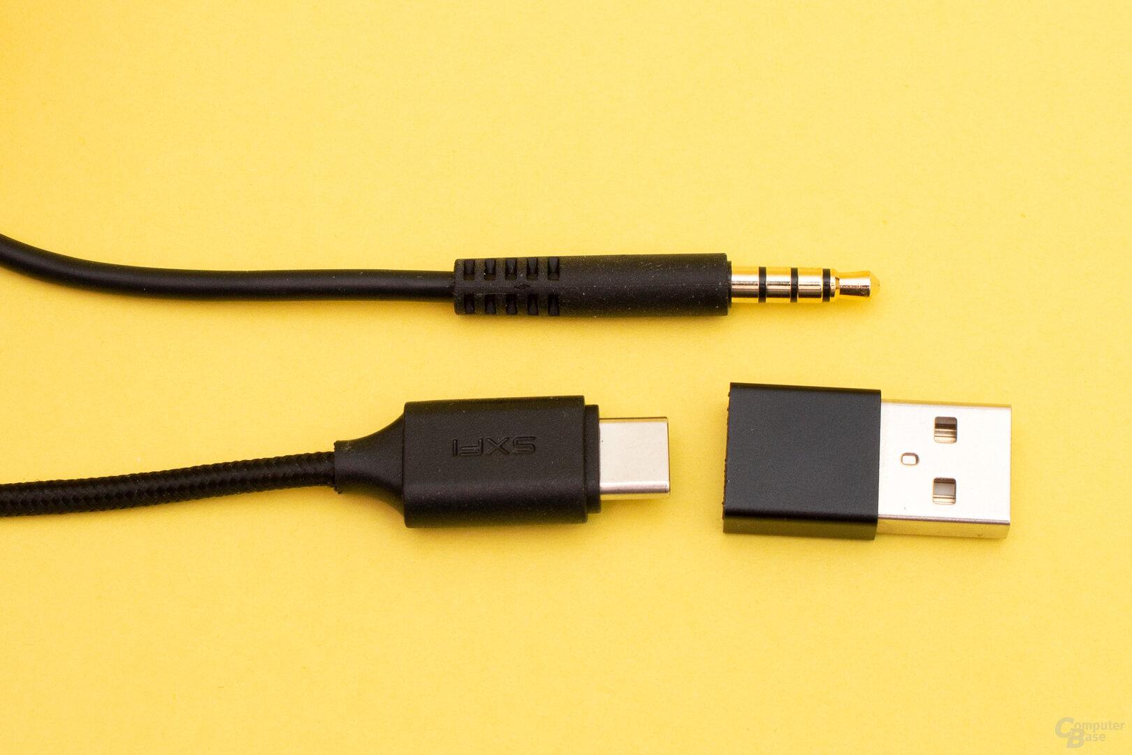 Das Creative SXFI Gamer lässt sich sowohl an einem PC wie auch mobilen Geräten anschließen