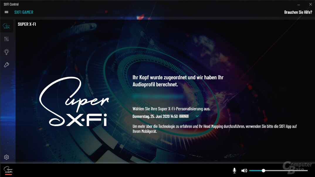 Die SXFI Control App