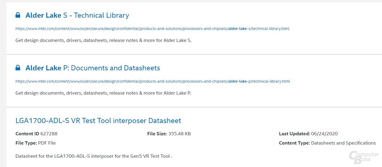 Intel weist selbst auf Alder Lake-S und LGA 1700 hin