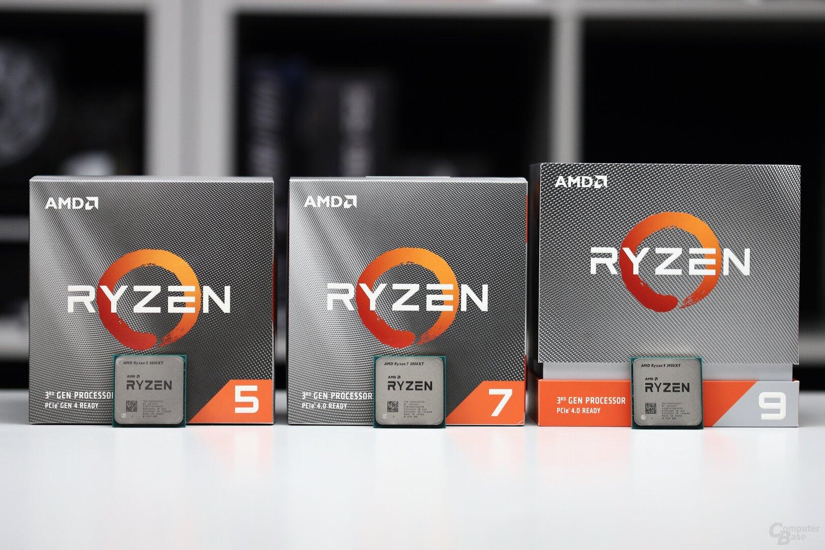 AMD Ryzen 9 3900XT, 7 3800XT und 5 3600XT im Test