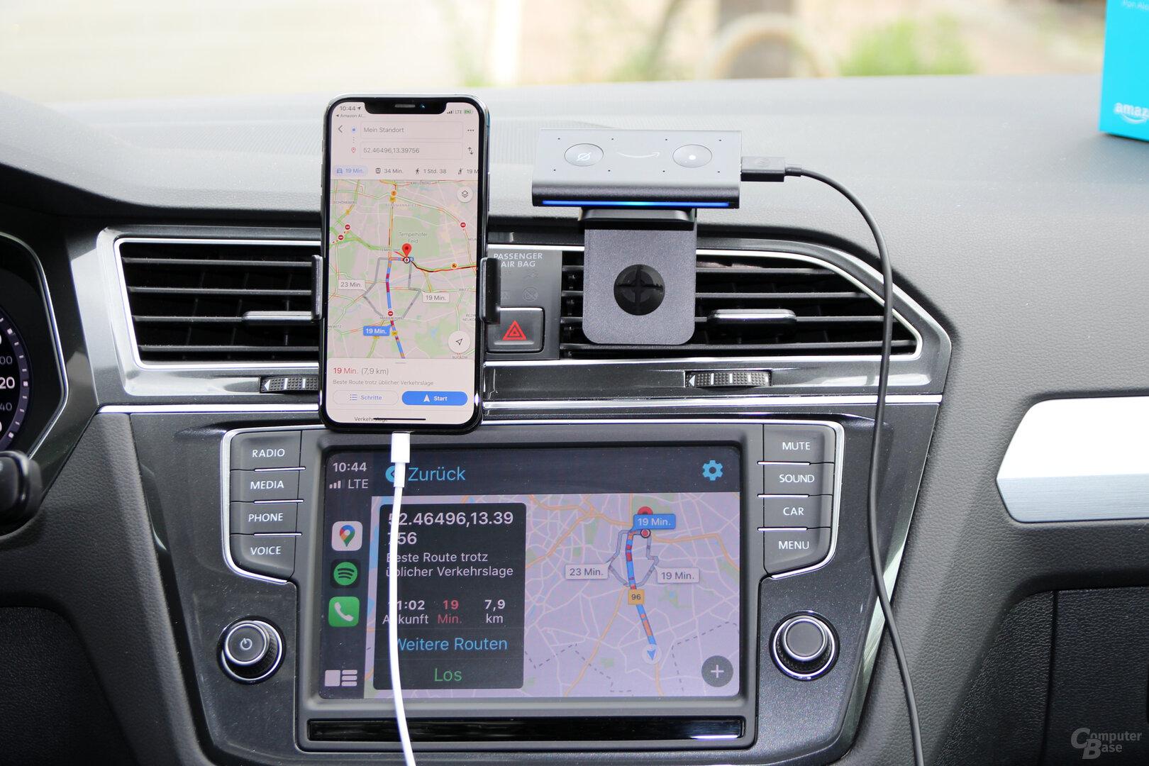 Amazon Echo Auto: Navigation unter iOS mit Google Maps