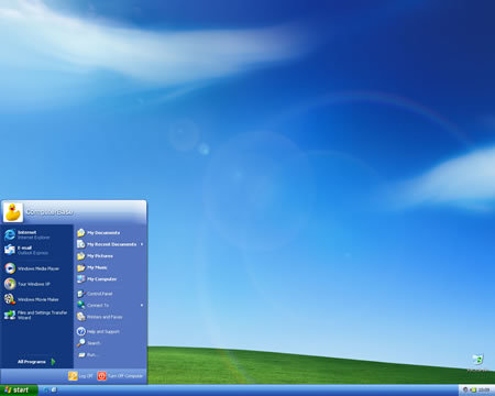 Engery Blue-Theme von Windows XP Media Center Edition