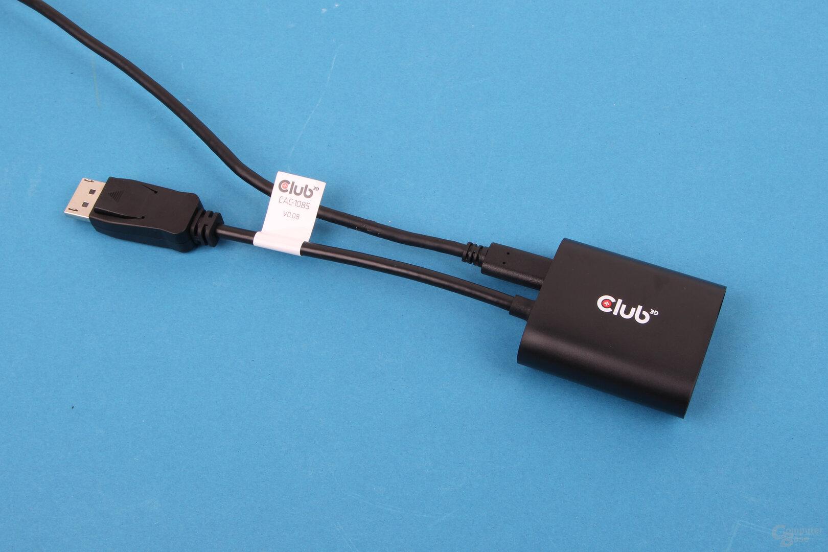 Club3D CAC-1085: DisplayPort-1.4-auf-HDMI-2.1-Adapter