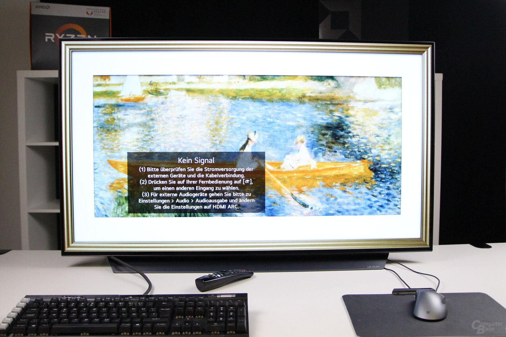 LG OLED 48CX: Bilder als Bildschirmschoner