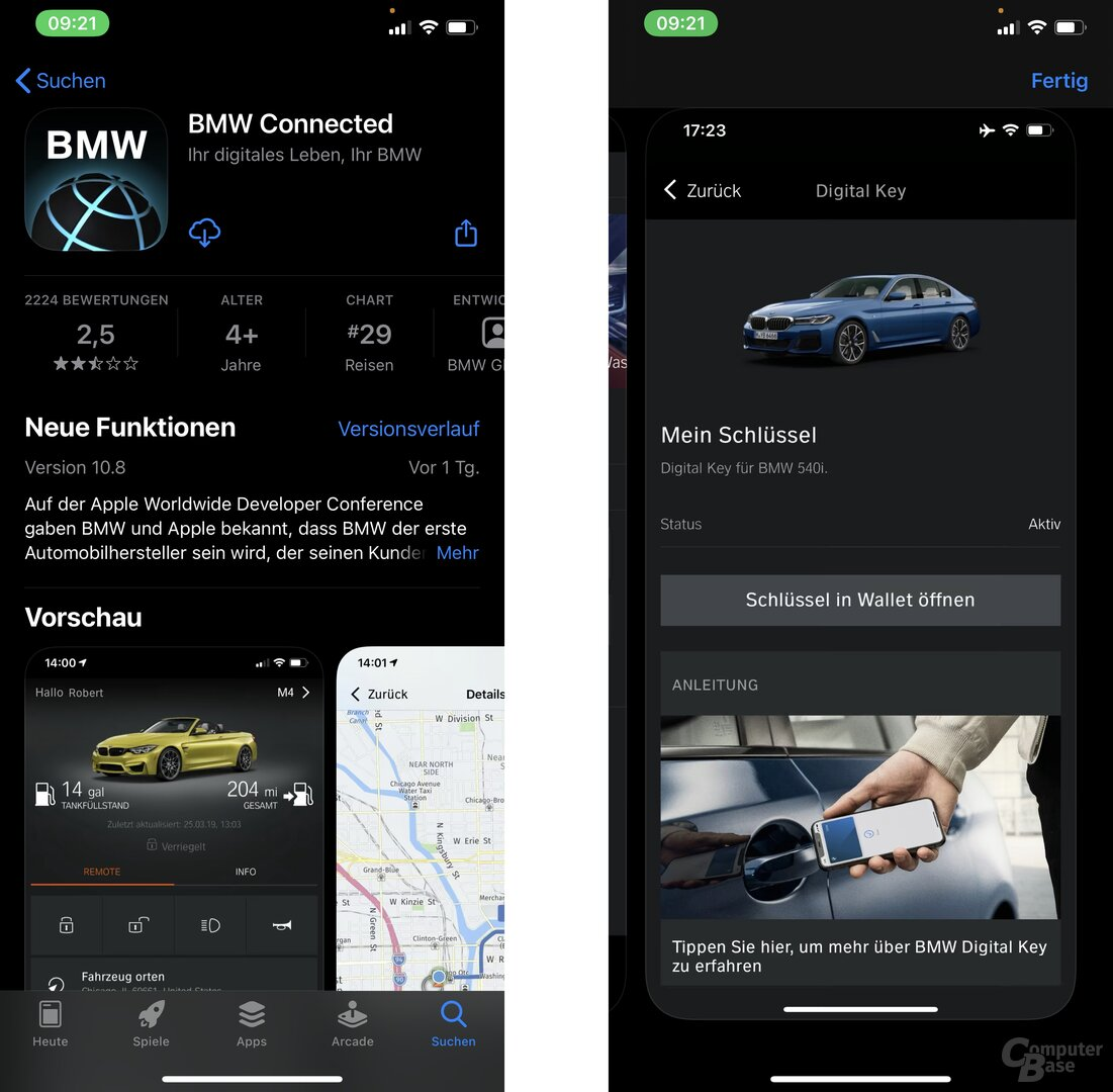 BMW Connected App 10.8 im App Store