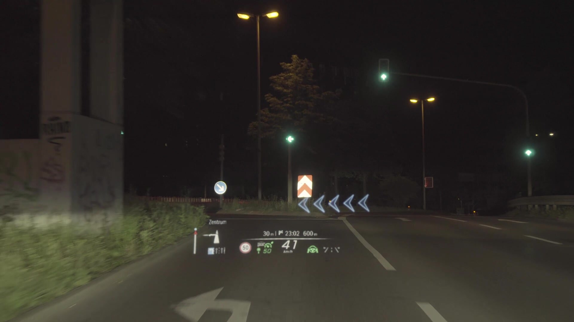 Head-up-Display mit AR-Overlay