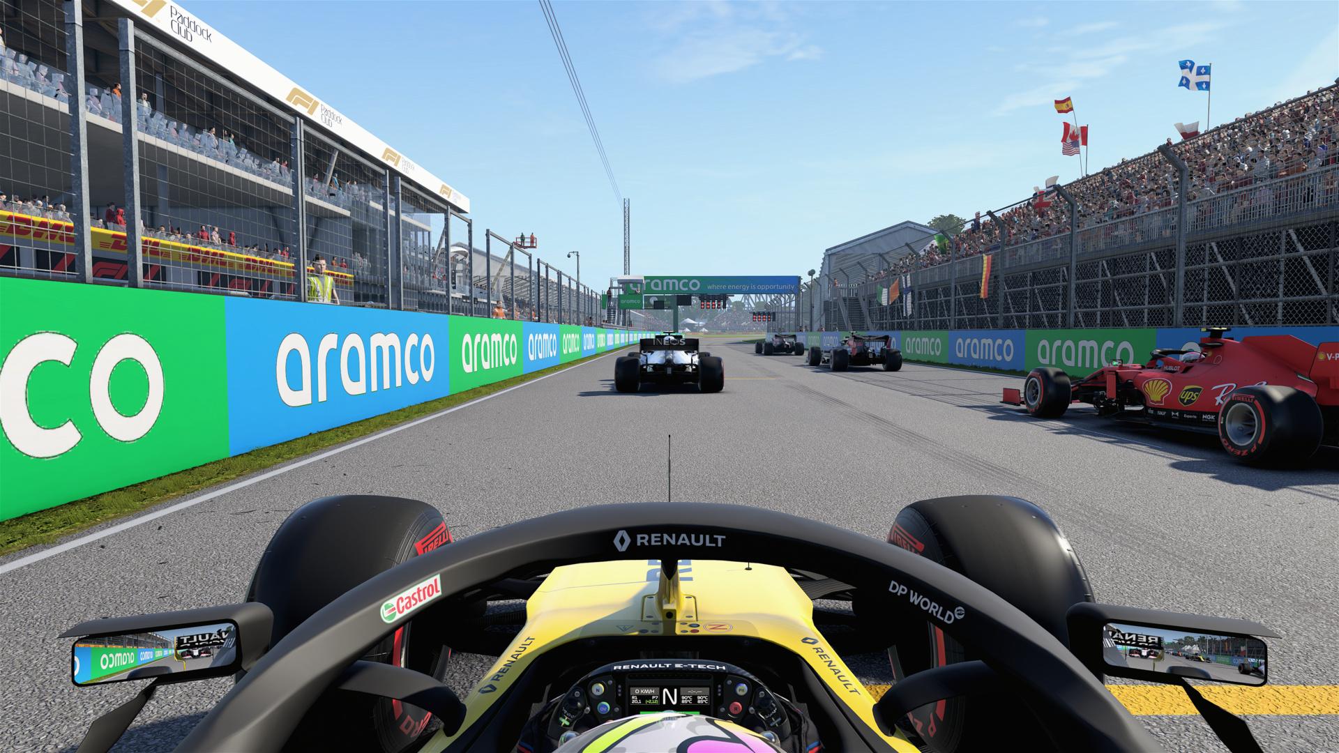 F1 2020 mit SRT-Schatten