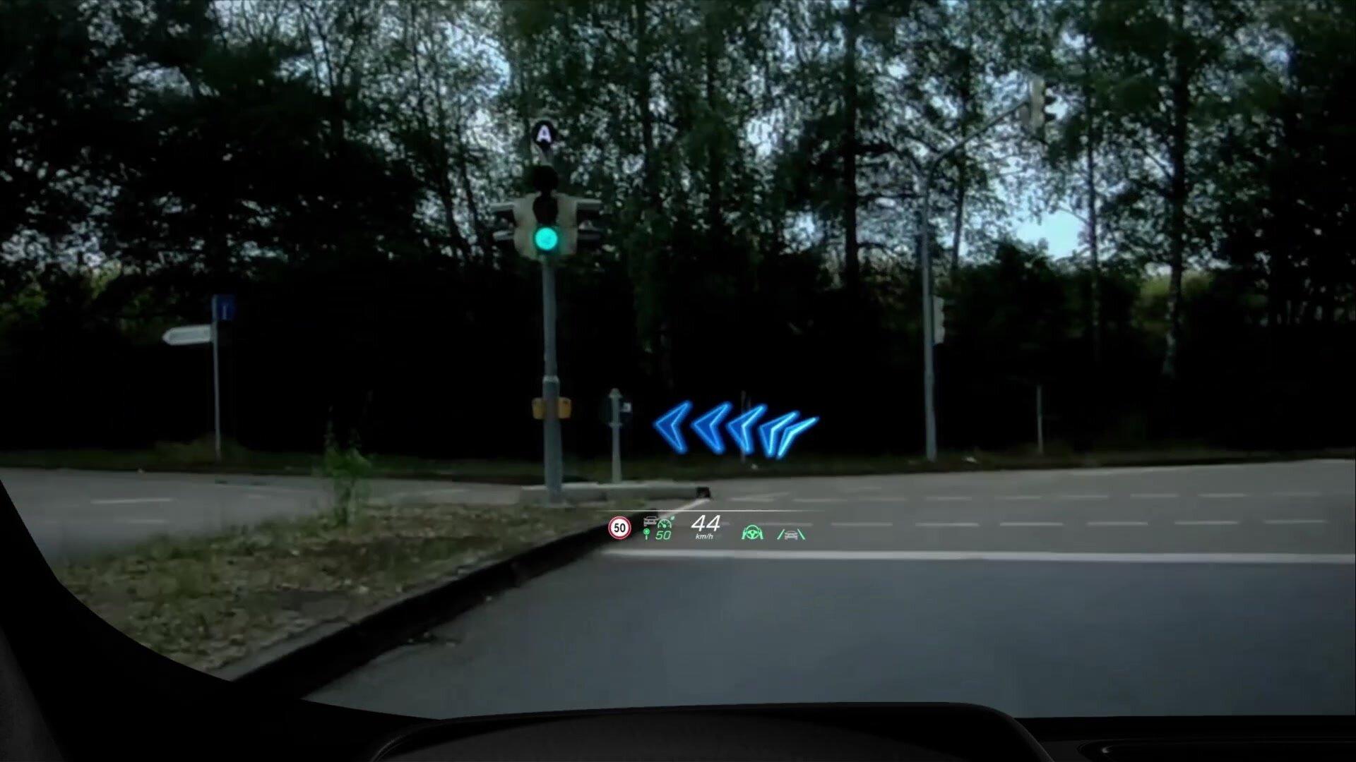 Head-up-Display mit AR-Overlay