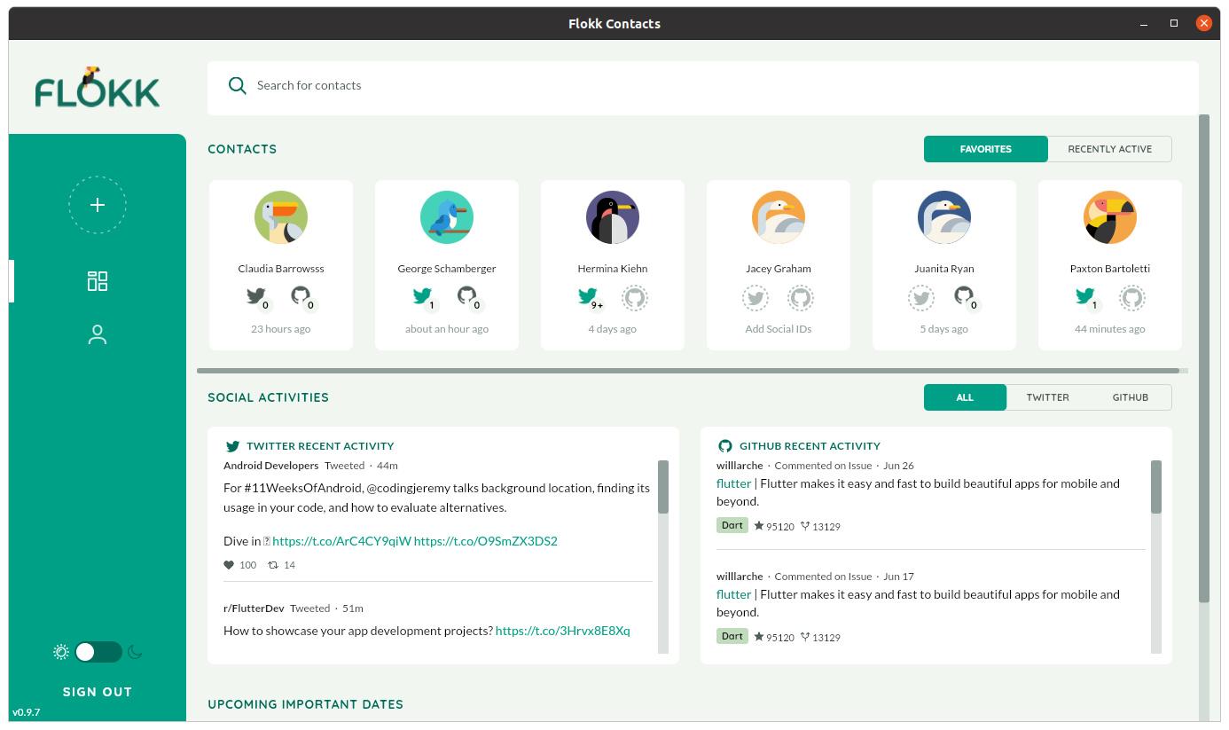 """Die Kontakt-App """"Flokk"""" wurde mit dem Toolkit Flutter realisiert"""