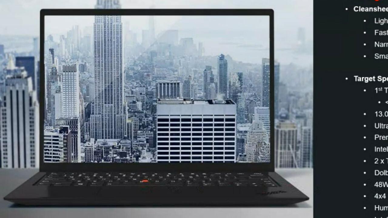 ThinkPad X1 Nano: Lenovo plant Unter-1-kg-Notebook mit 16:10-Display