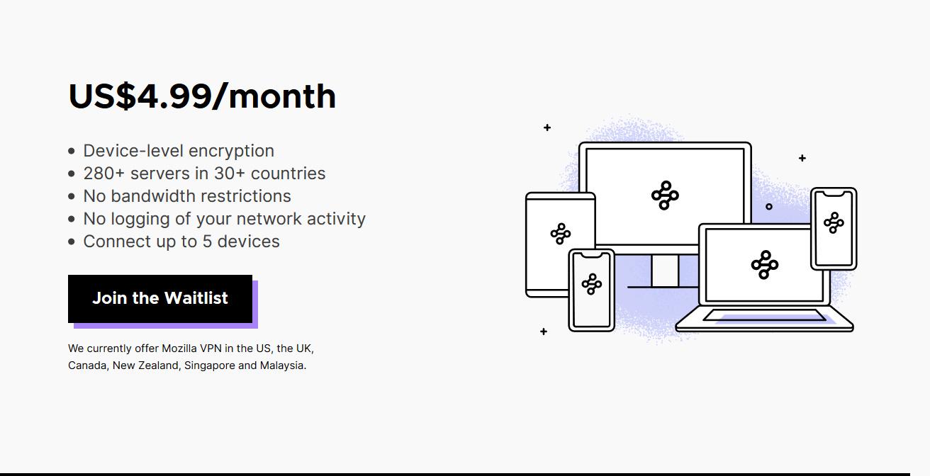Mozilla VPN powered by Mullvad VPN