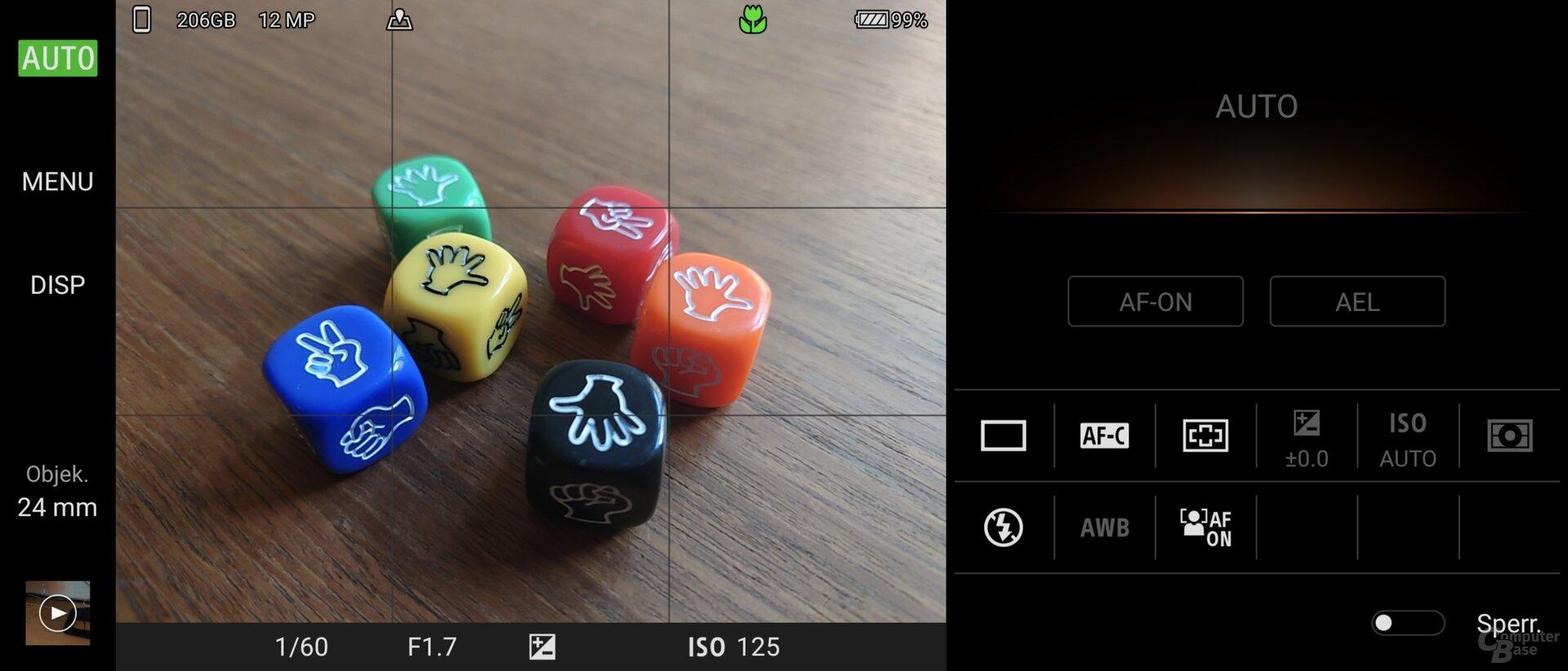 Photo-Pro-App im Automatikmodus