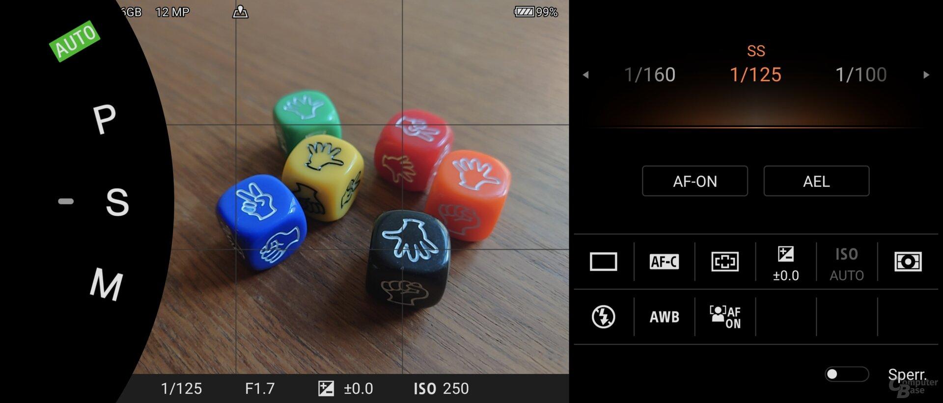 Photo-Pro-App im S-Modus