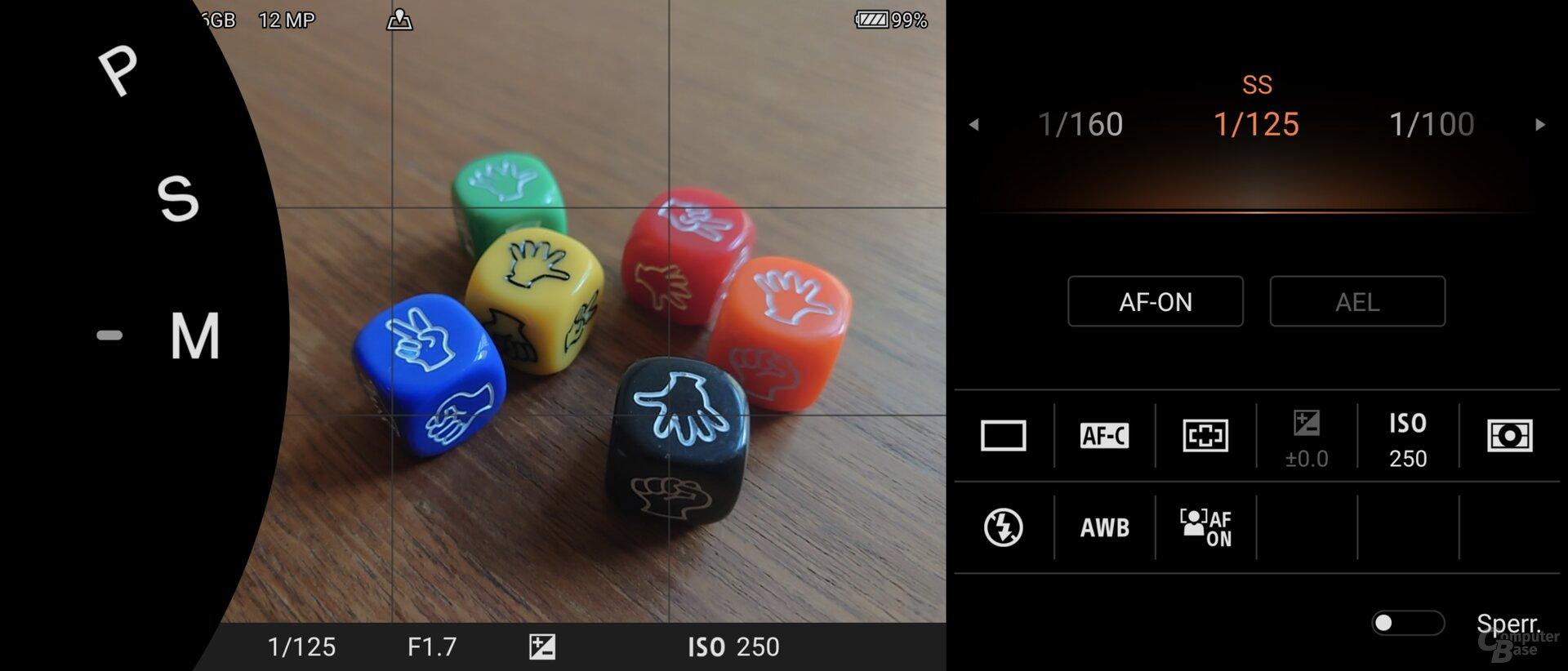 Photo-Pro-App im M-Modus