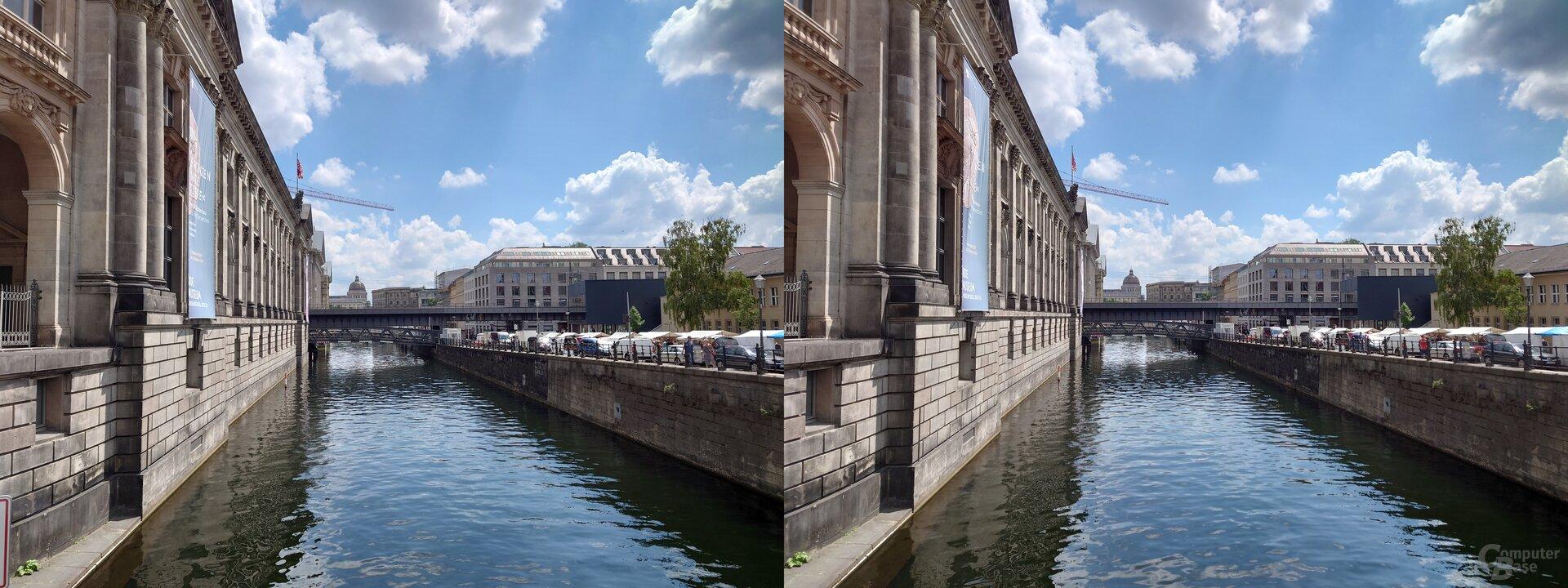 Photo-Pro-App (l.) vs. Standard-App (r.) – Weitwinkel