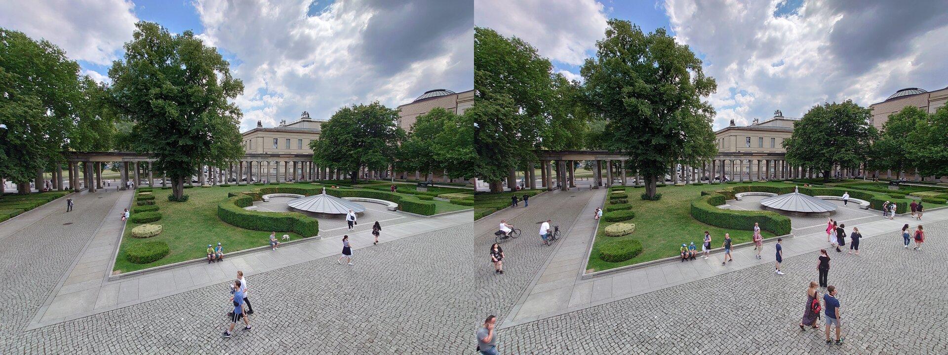 Photo-Pro-App (l.) vs. Standard-App (r.) – Ultraweitwinkel