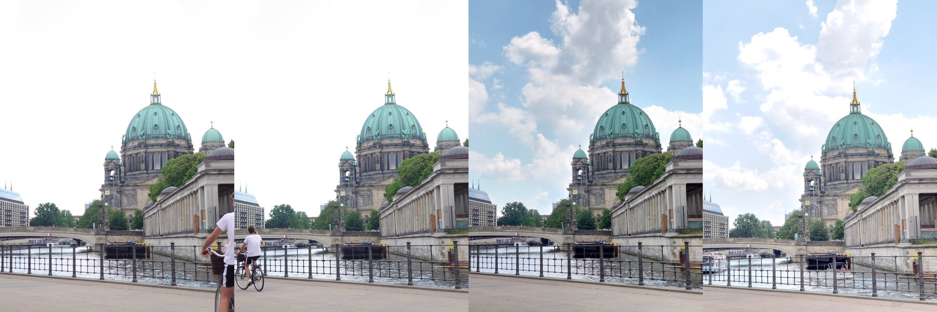 Ohne DRO/HDR vs. DRO vs. HDR vs. HDR mit langer Belichtung