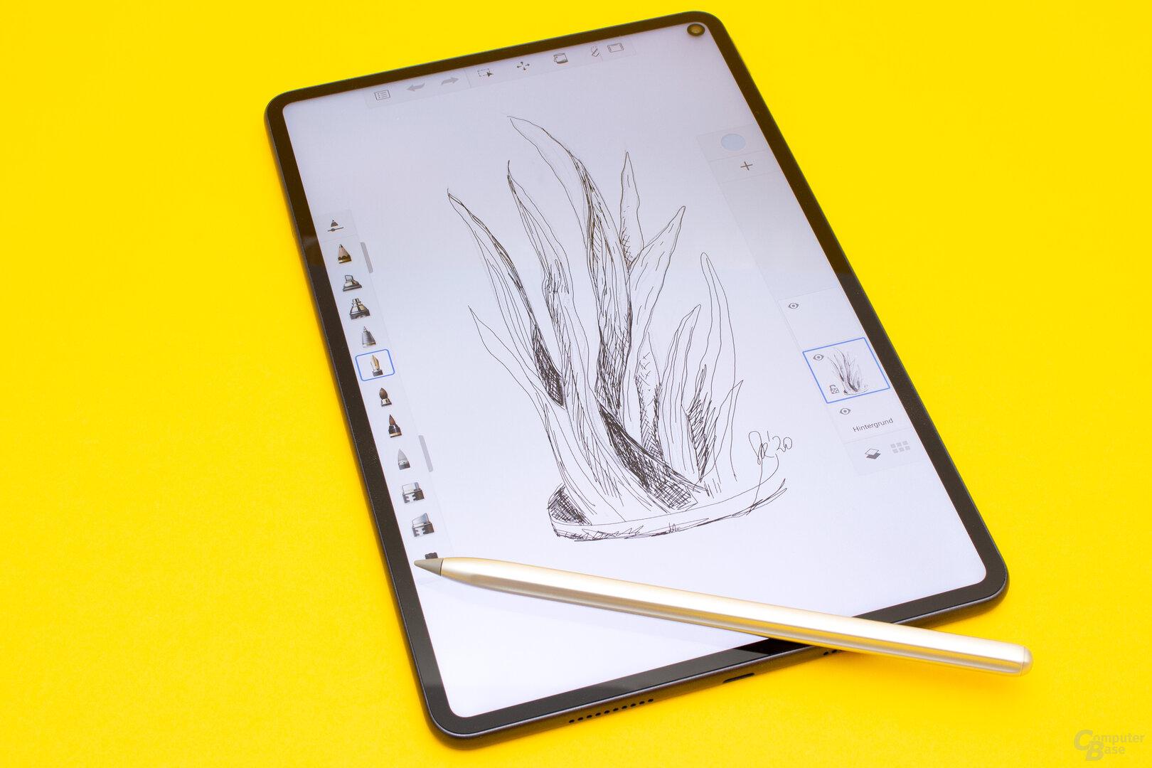 Das MatePad Pro eignet sich auch sehr gut zum Zeichnen