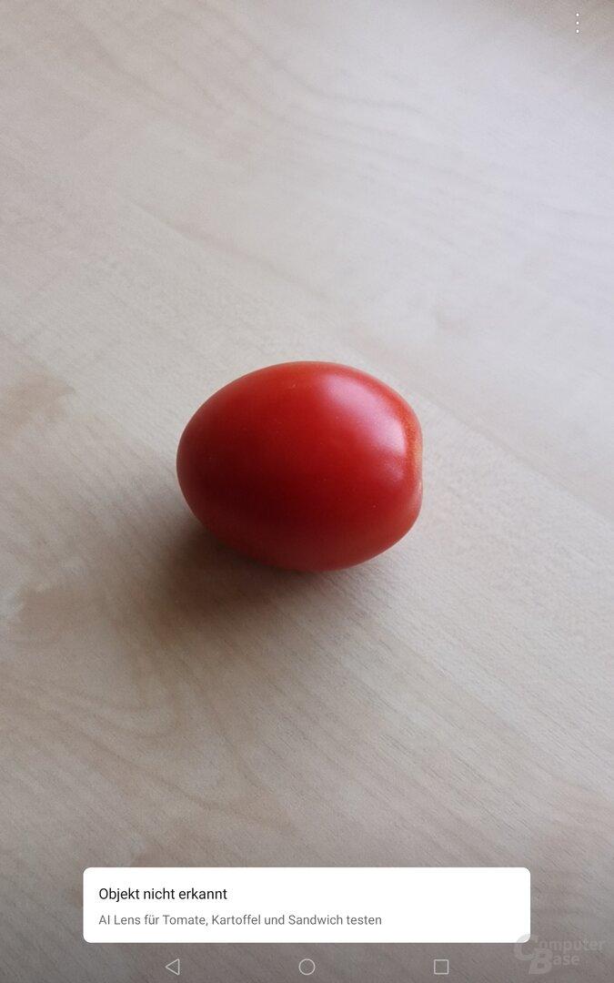 Eine Tomate erkennt die App nicht, aber eine Tomate soll hingelegt werden