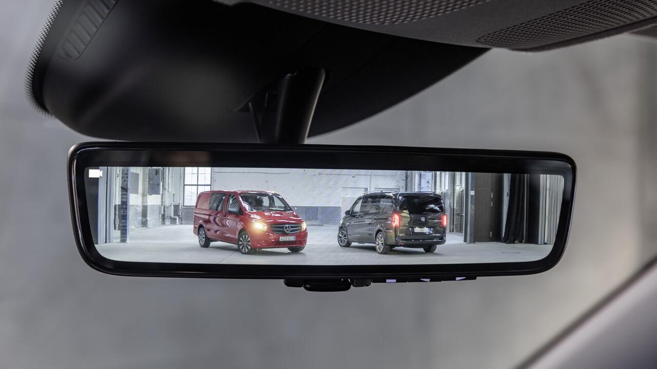 Mercedes-Benz: Im neuen Vito wird der Rückspiegel zum Display