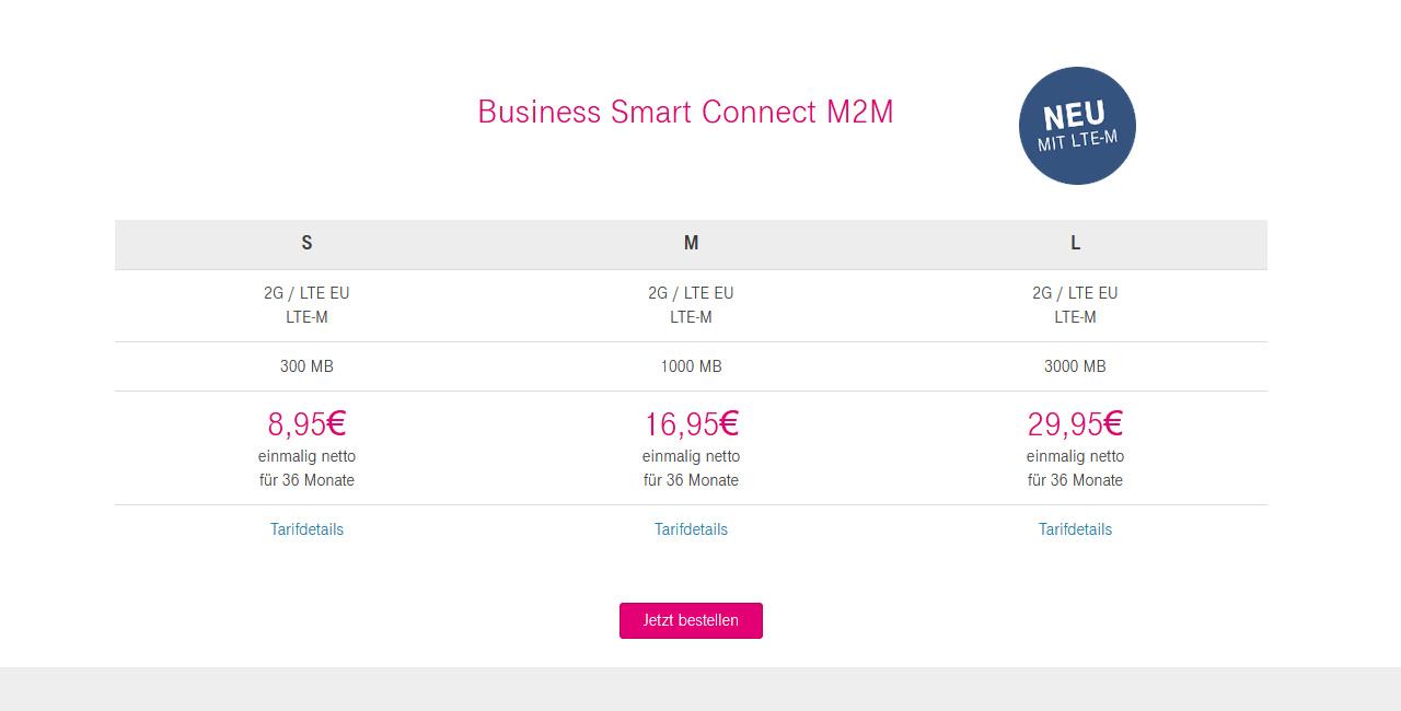 Business Smart Connect M2M mit LTE-M