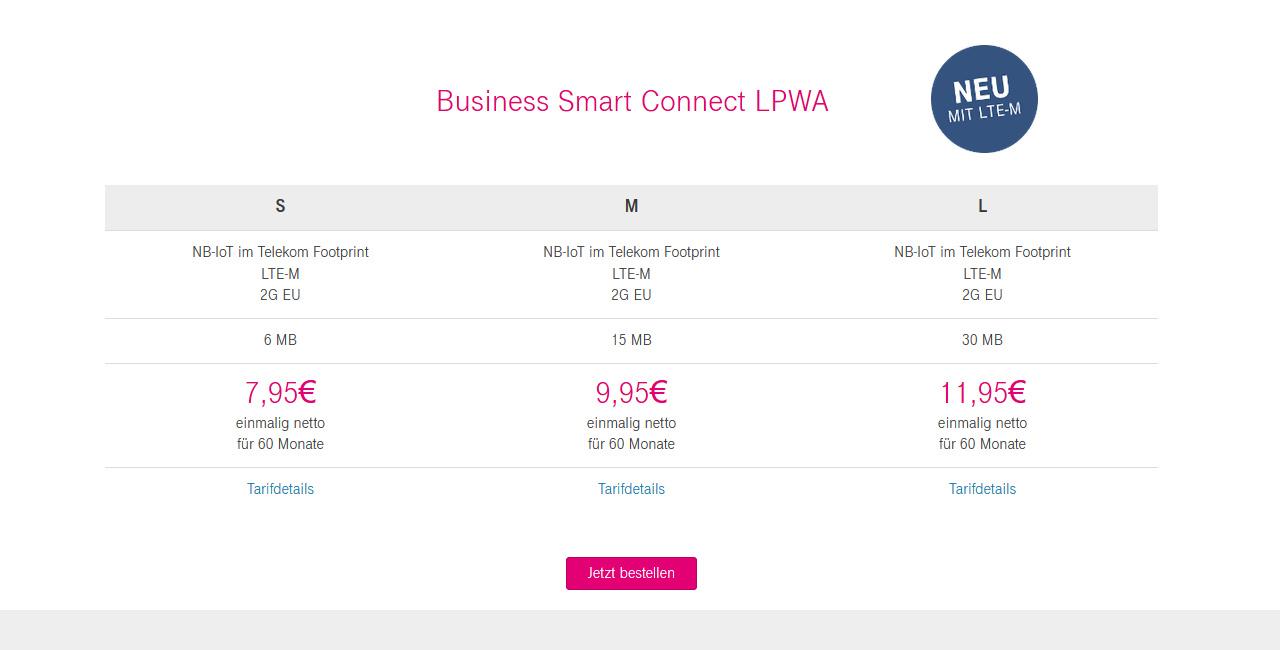 Business Smart Connect LPWA mit LTE-M