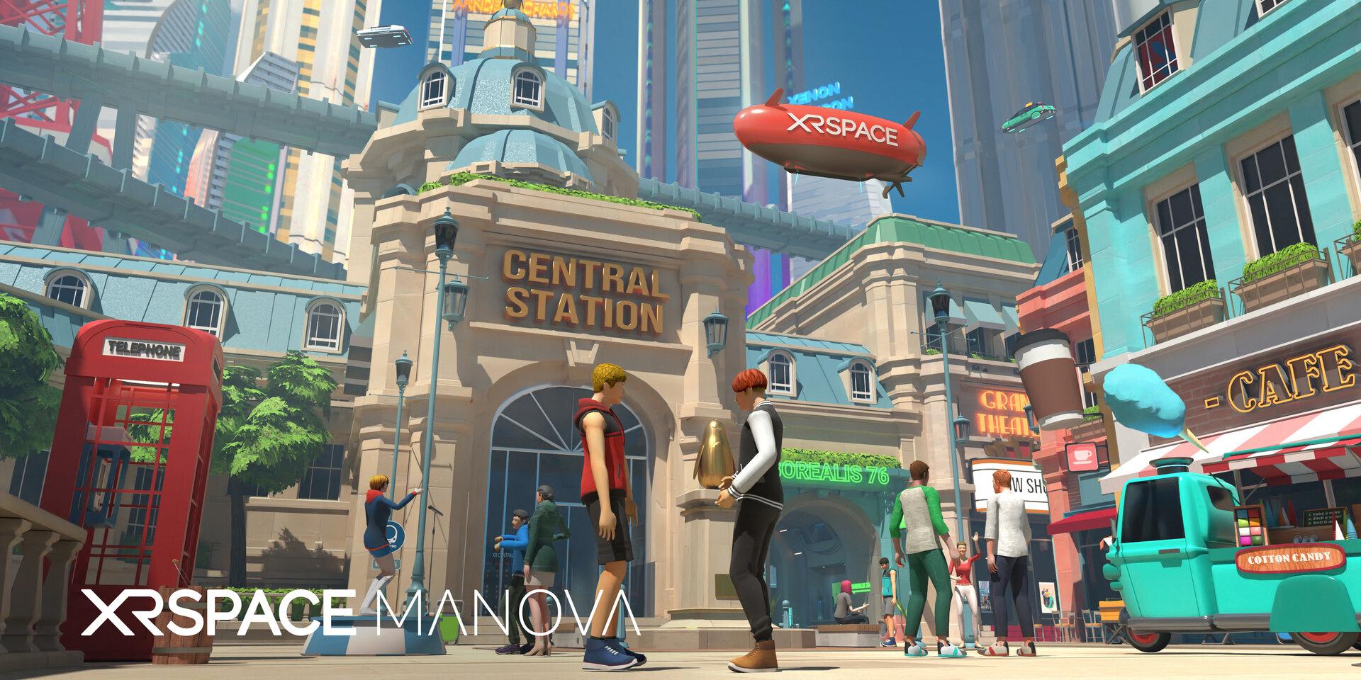 Das Stadtzentrum der Manova World