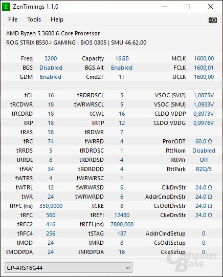 3200CL16-XMP-Profil
