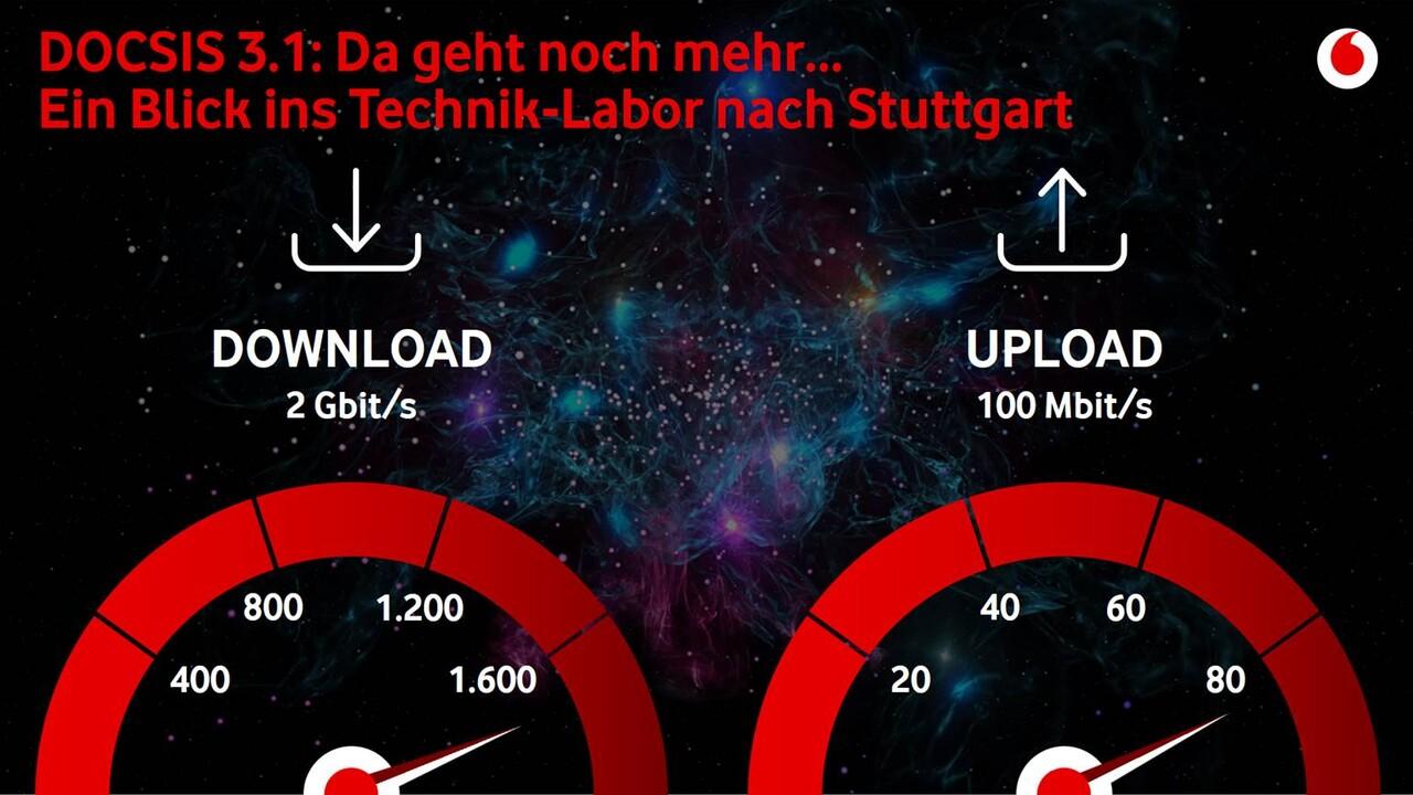 Kabelnetz: Vodafone plant mit 100Mbit/s im Uplink und DOCSIS 4.0