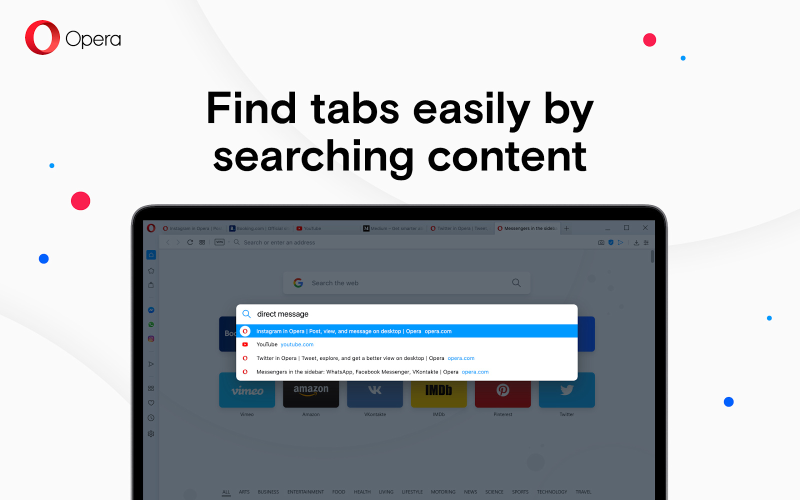 Tabs lassen sich jetzt auch nach Inhalten durchsuchen