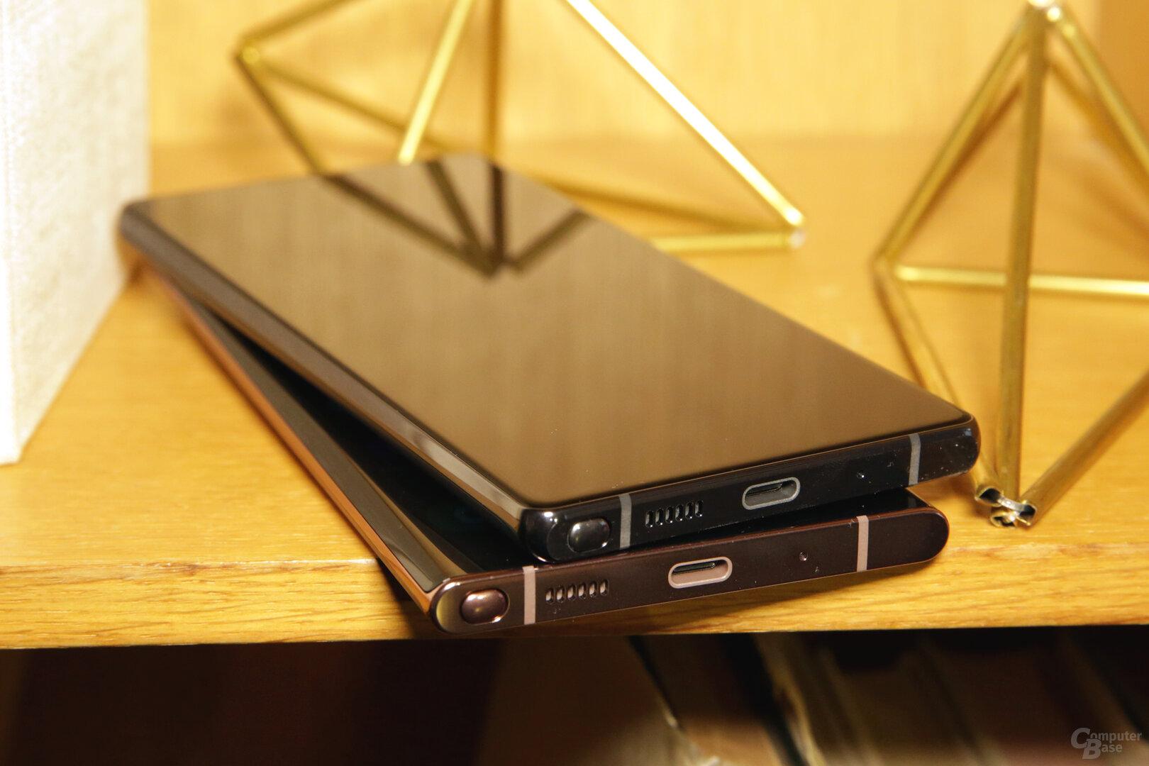 Stylus unten links statt rechts im Smartphone