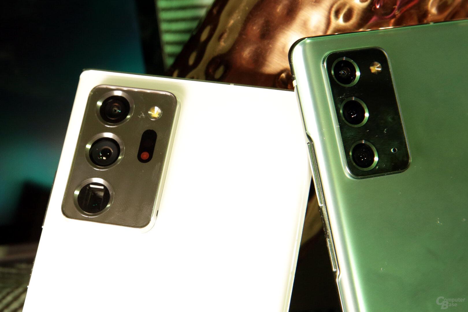 64Megapixel für 8K-Videos beim Galaxy Note 20 (rechts)